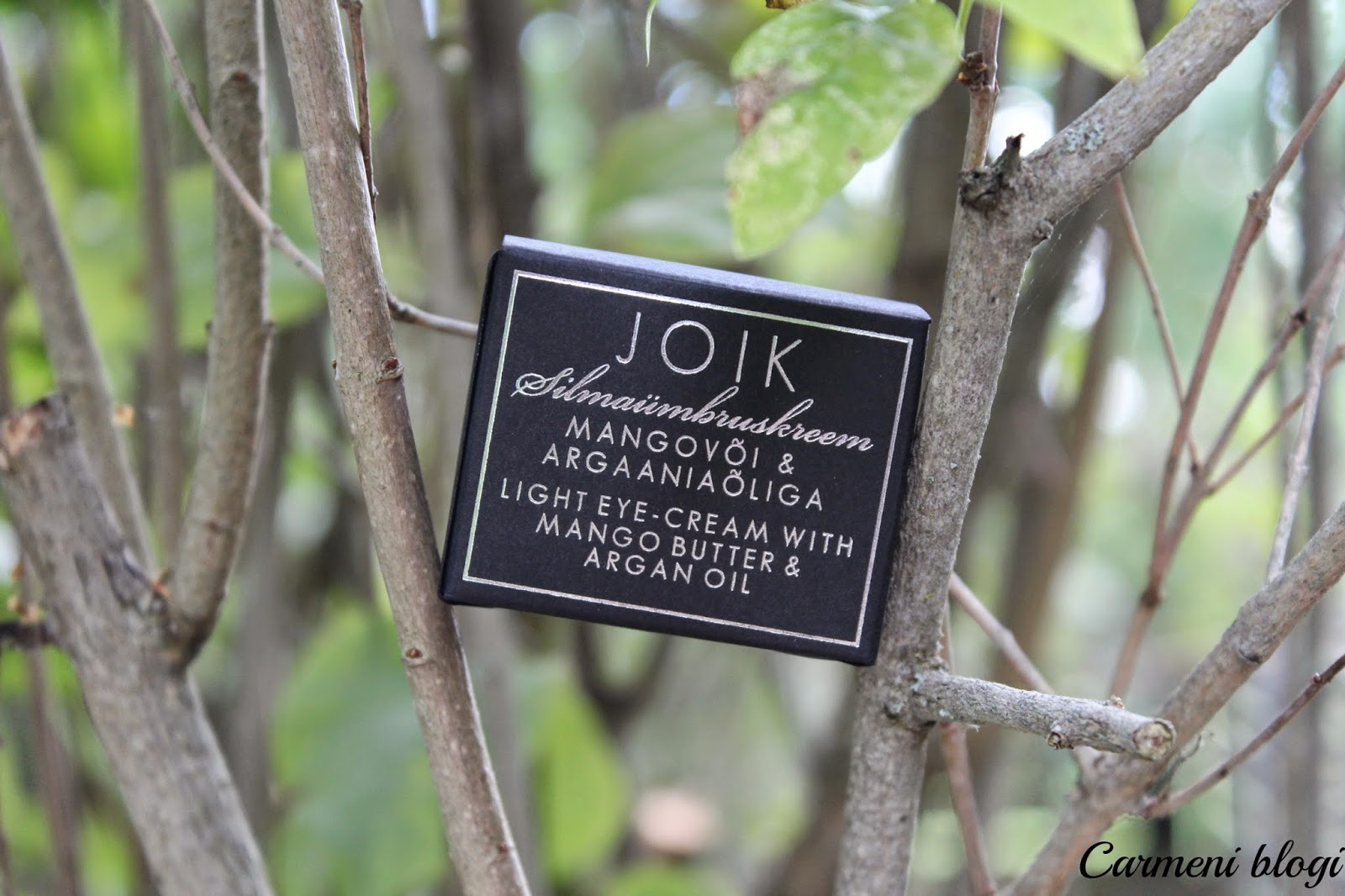 412fe6dc6cc Viimane toode firmalt JOIK on tellitud Siisoni lehelt ning selleks on  Silmaümbruskreem Mangovõi & Argaaniaõliga. Minu vana silmakreem sai otsa ja  miks mitte ...