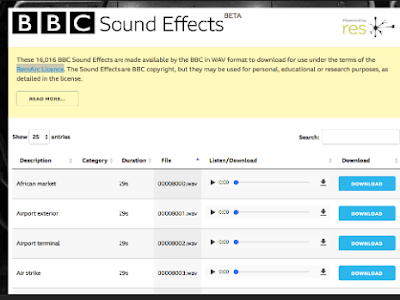 Music Teachers- BBC Sound Effects Database Is Now Available for Free Download