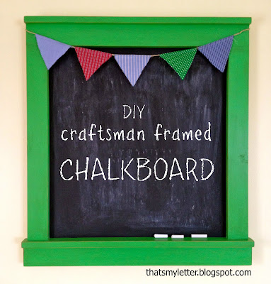 diy craftsman framed chalkboard