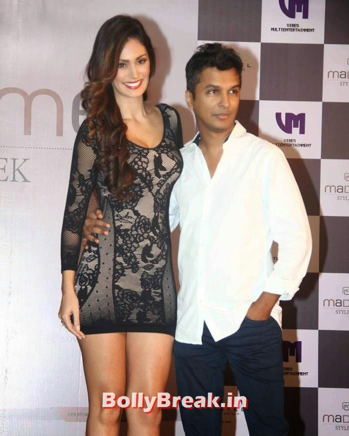 Bruna Abdullah, Vikram Phadnis, Bruna Abdullah in Black Short Dress