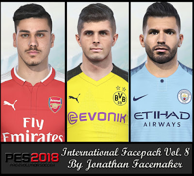 PES 2018 Facepack International v8 by Jonathan Facemaker
