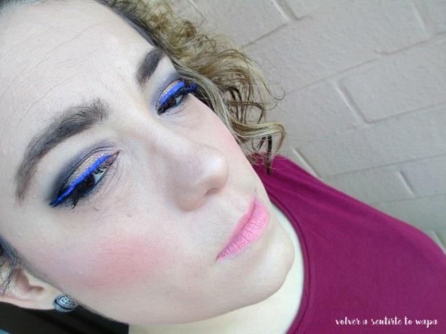 Maquillaje triple delineado