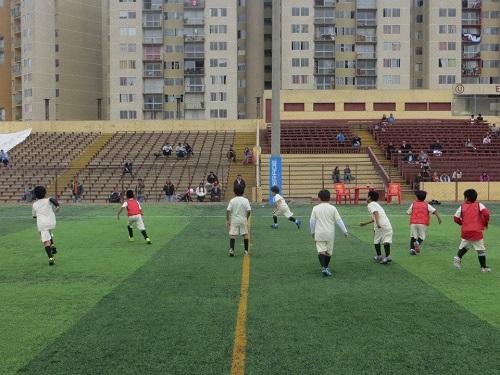 Escuela de Fútbol Lolo Fernández del club Universitario de Deportes