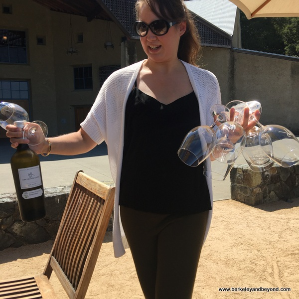 wine tasting at Mayacamas Estate experience at Long Meadow Ranch in St. Helena, California