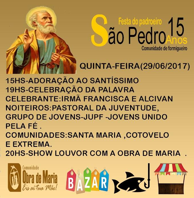 Quarto dia dos festejos de São Pedro na comunidade de formigueiro