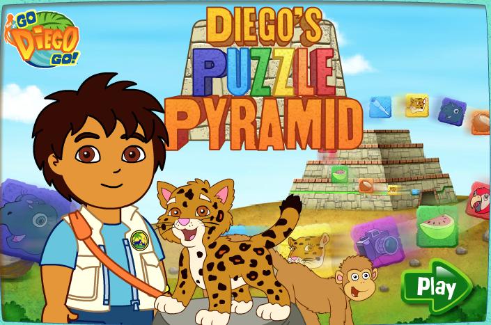 Juega con Diego a las pirámides