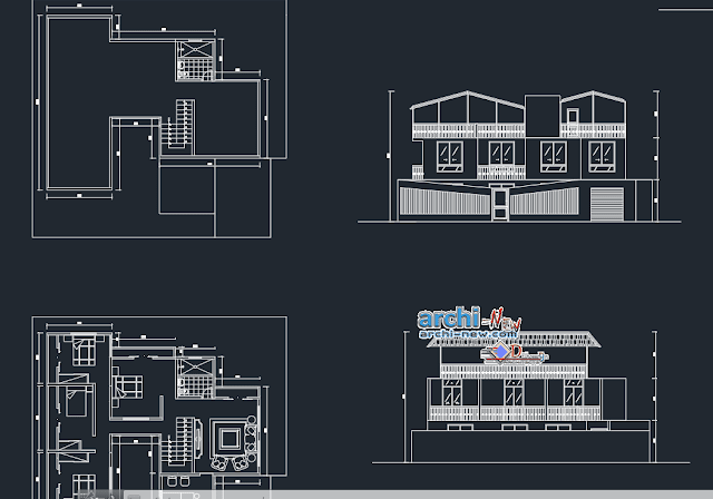 Single housing joel drawing in AutoCAD