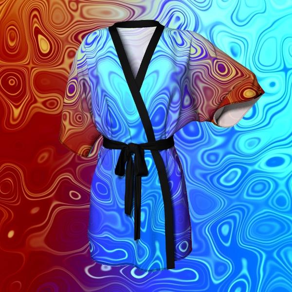 Abstract Kimono Robe