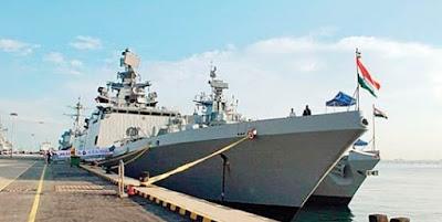 Indian warships visit Malaysia's Port Kelang