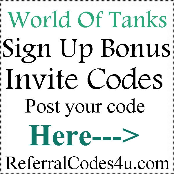 World Of Tanks Invite Codes 2016-2017, World Of Tanks Bonus Codes