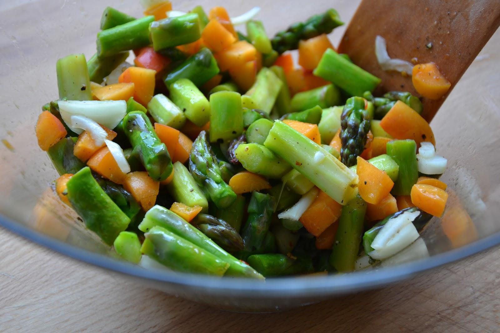Spargel Aprikosen Salat