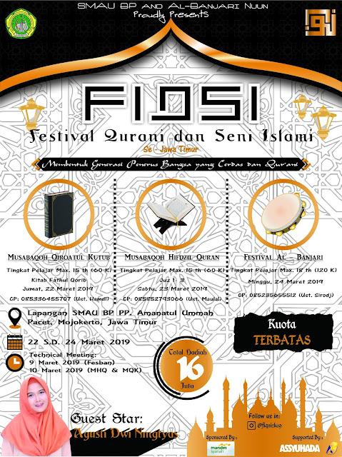 Event Festival Qurani Dan Seni Islam FIQSI 2019 Pelajar se-Jawa Timur
