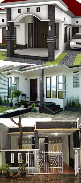 Contoh model teras rumah minimalis sederhana 1 lantai