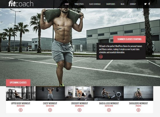 FIT COACH: RESPONSIVE WORDPRESS THEME FOR FITNESS BUSINESS