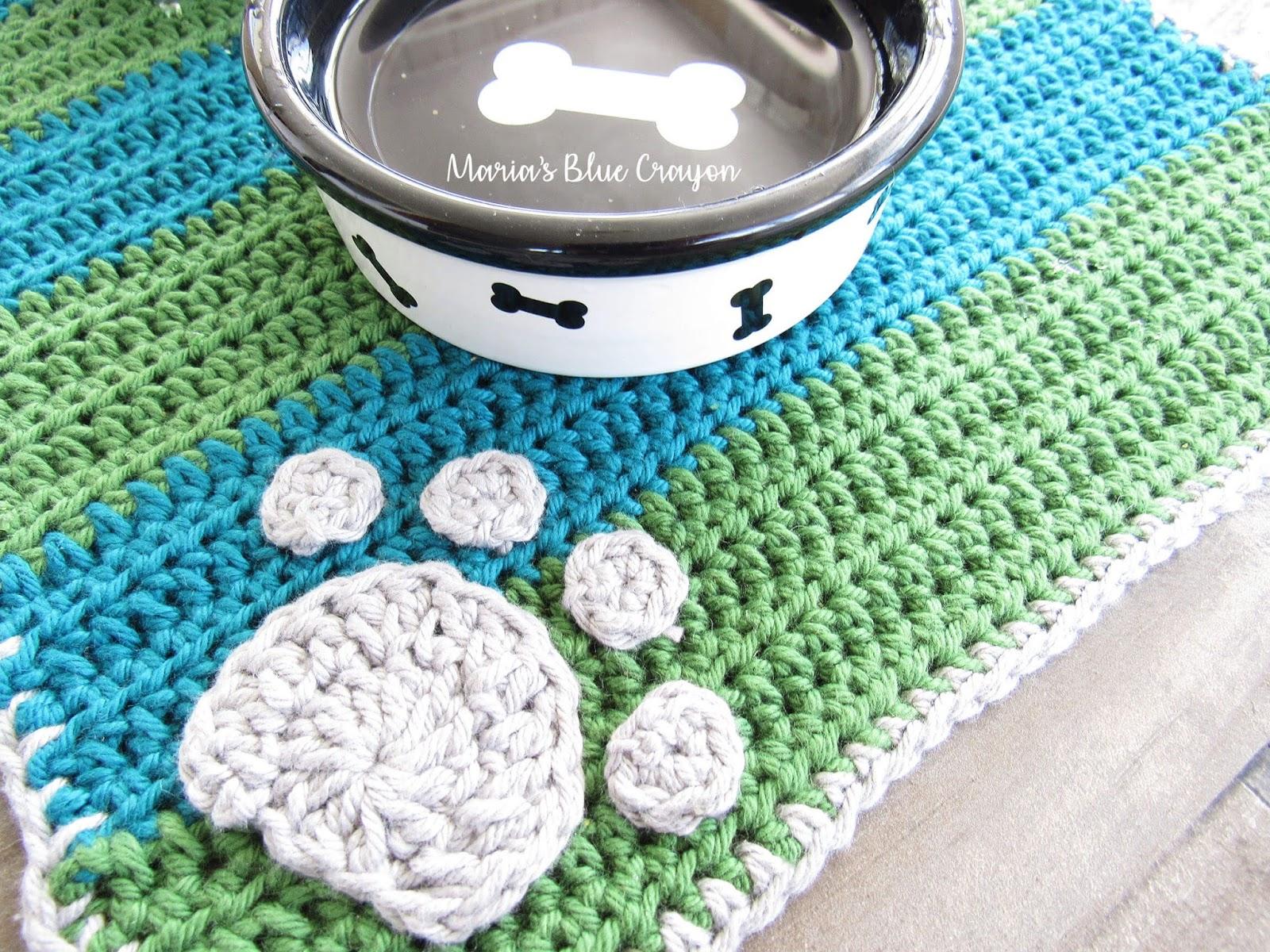 Crochet Dog Bowl Mat Free Pattern And Knit Picks Dishie