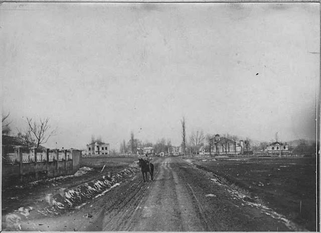 In the streets of Monastir (Bitola) (February 1917). Entrance of the city, south side