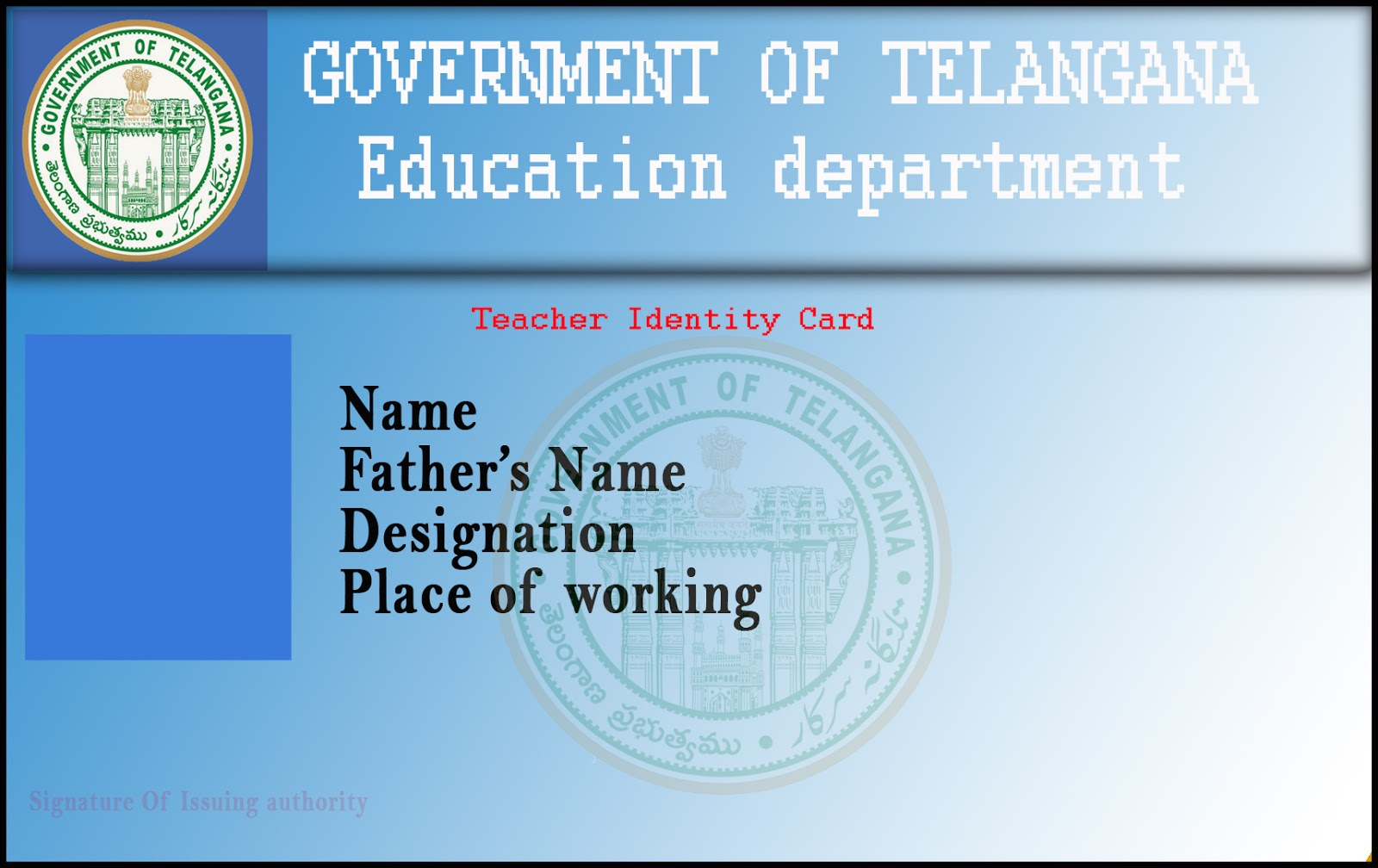hight resolution of at final print out those edited id card and make it authorised by employer
