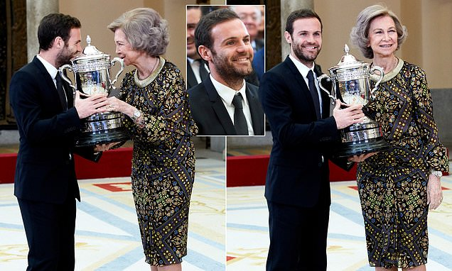 Royal Reward For A Common Goal: Man United's Mata Receives 'Queen Sofia' Award For Work With His Charity