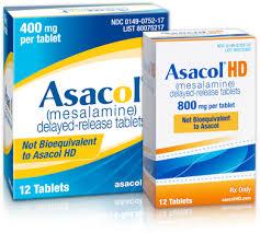 دواعى إستعمال حبوب أساكول Asacol لعلاج التهابات القولون التقرحي