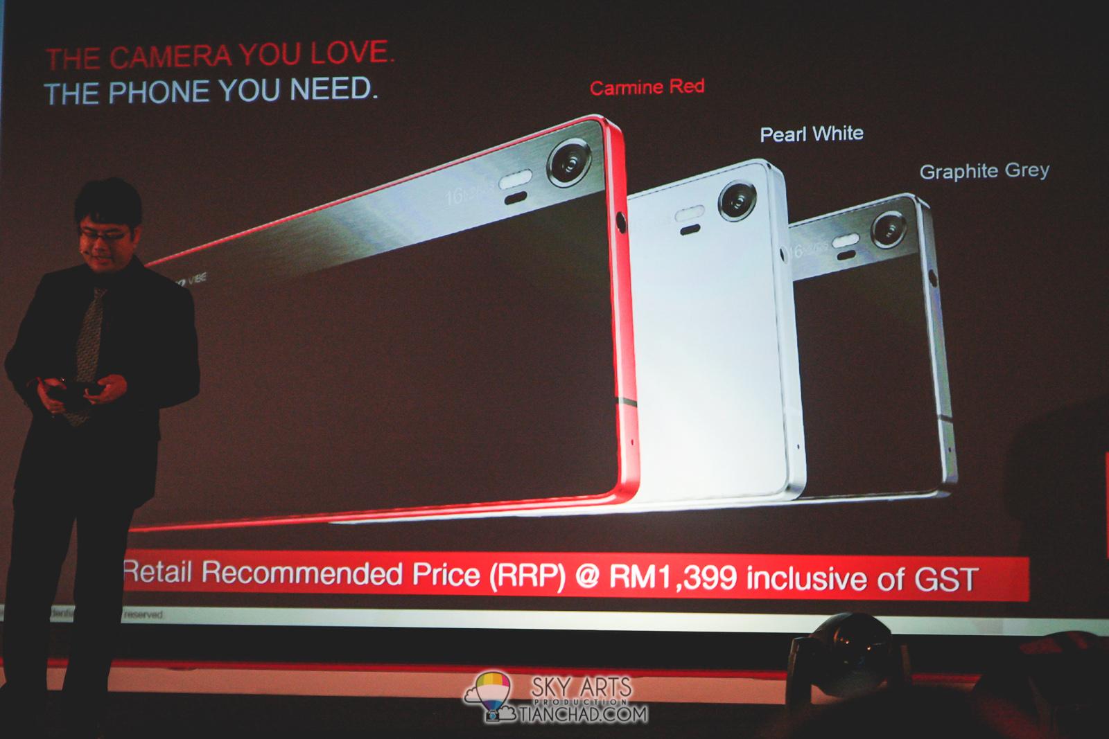 Lenovo VIBE Shot Camera Smartphone with TriFlash & IR Focus