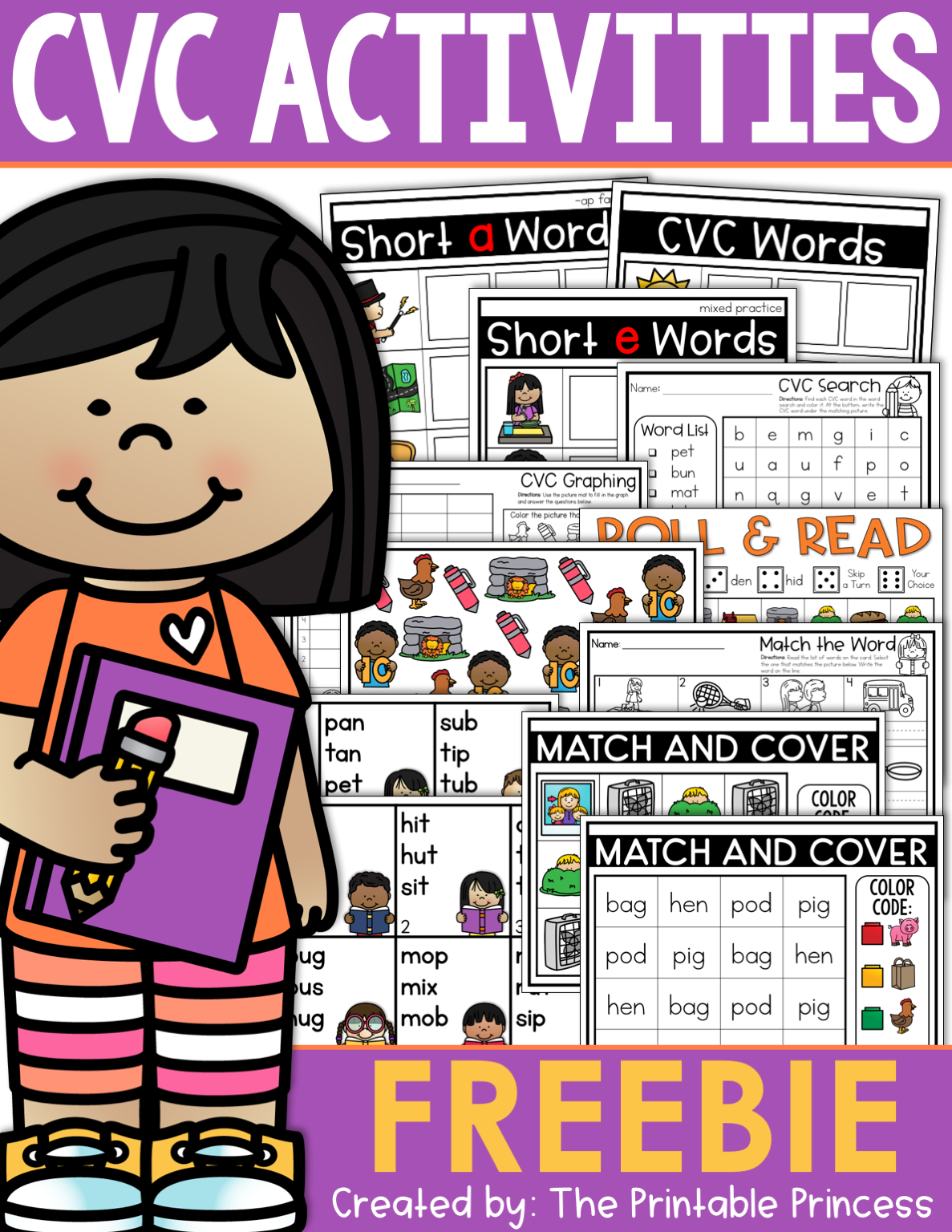 Cvc Words For Kindergarten