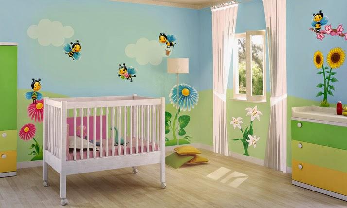 Dormitorio de beb con stickers dormitorios colores y for Stickers para habitaciones