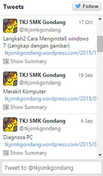 Follow Twitter TKJ SMK Gondang