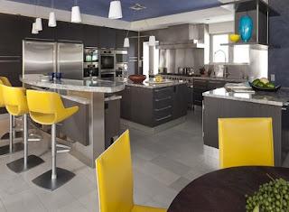 Diseño cocina gris moderna