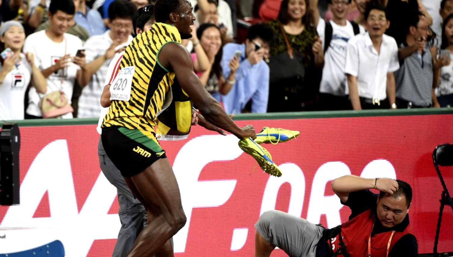 Usain Bolt collides with a cameraman on a Segway CNN