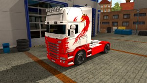 Red Beast skin for Scania RJL