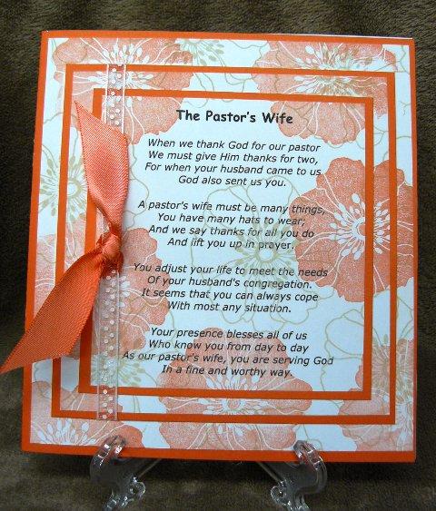 Poems For Pastors Appreciation 7