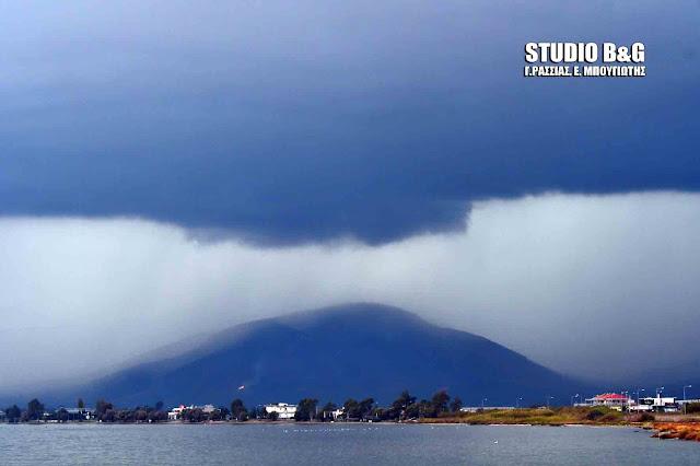 Το τρομακτικό συννεφο που έφερε την χαλαζόπτωση στην Αργολίδα