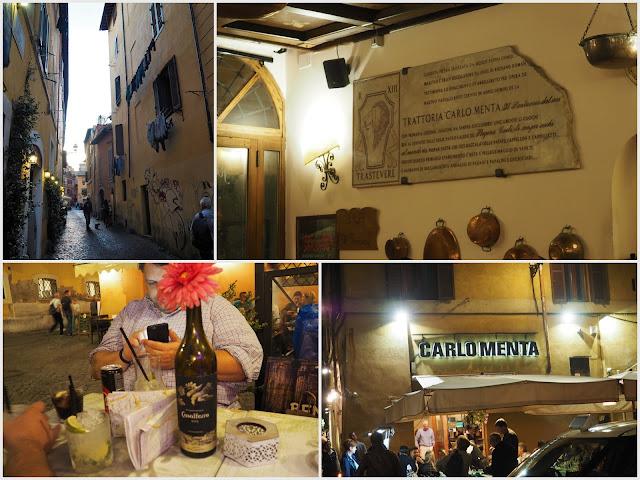carlo Menta sehr günstiges essen in Rom Trastevere