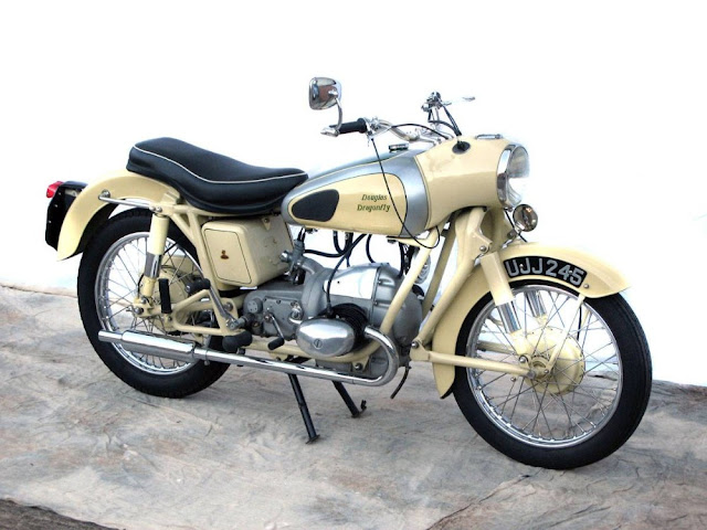 Douglas Dragonfly 1950s British classic motorcycle