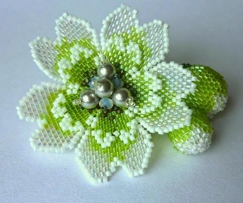 Кирпичное плетение бисером. Основной ряд