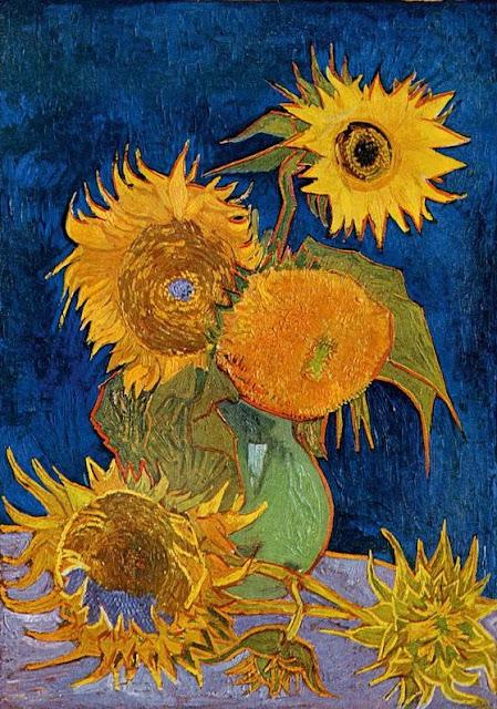 Vaso con cinque girasoli di Van Gogh