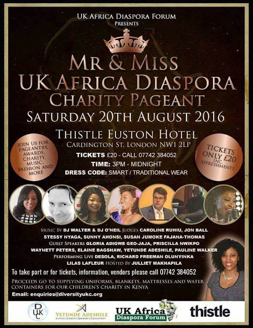 Mr and Miss UK Africa Diaspora Charity Pageant