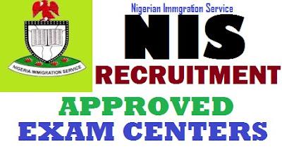Nigeria Immigration Test / Exam Centers & Venue 2017 (List of NIS Recruitment Exam Address)