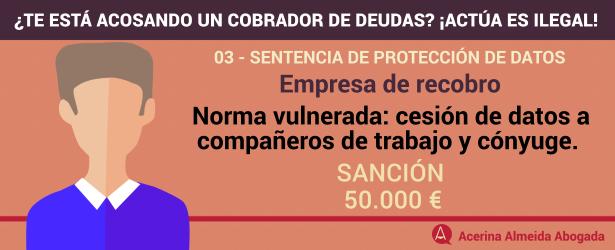 Ejemplo de sentencia, 50.000 euros de sanción.