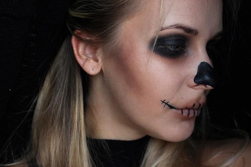 Skull   Nejrychlejší A Nejsnadnější Halloweenské Líčení