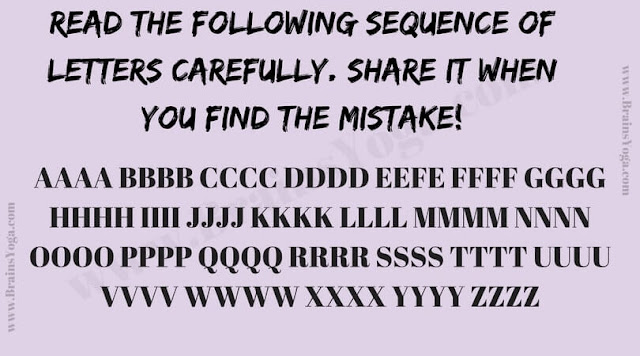 Picture Puzzle to find the mistake