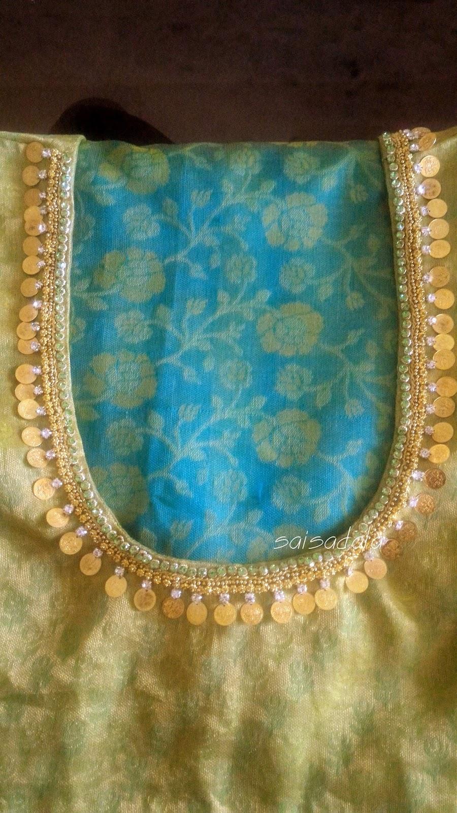 Sadala s embroidery kasu work coin