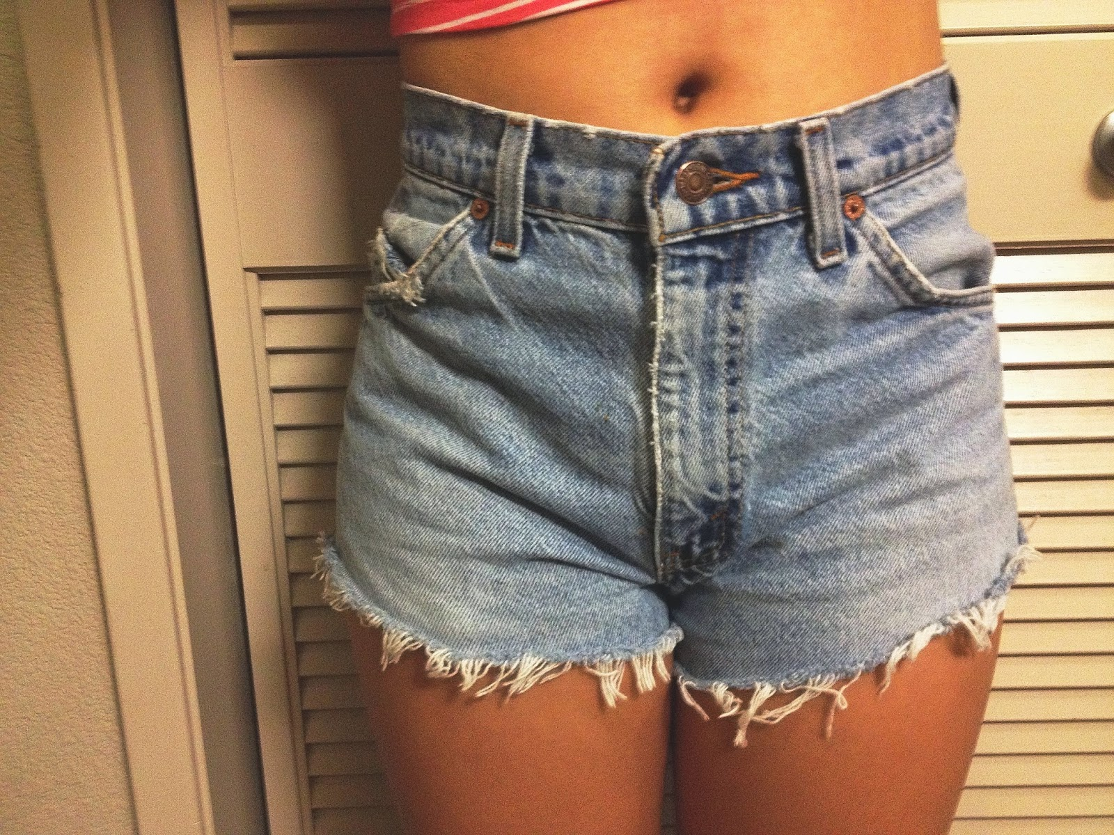 DIY: Denim Shorts from Dad Jeans  Livin' and Lovin'