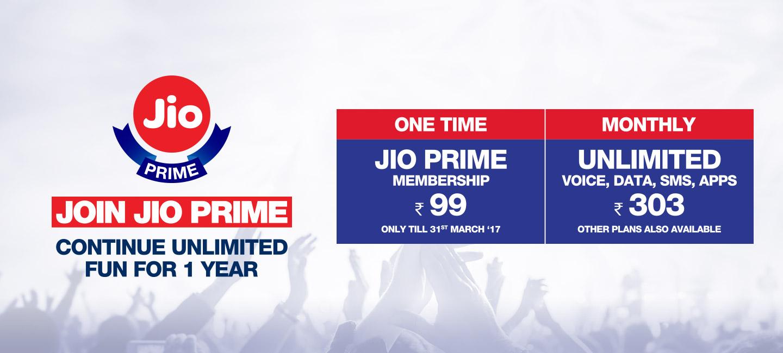 Reliance JIO Prime Membership Offers