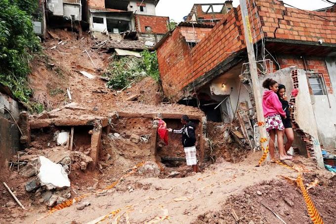 Deslizamento: Quatro crianças mortas após desabamentos em Mauá