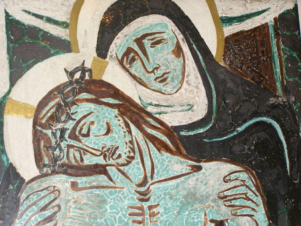Descente de la croix, église de Solaure à Saint-Etienne©Défrade
