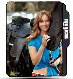 Cute Jennifer Lawrence with horse, Celebrity, Blonde girl Jennifer Lawrence, Horse icon, blonde girl icon, Jennifer Lawrence folder icon