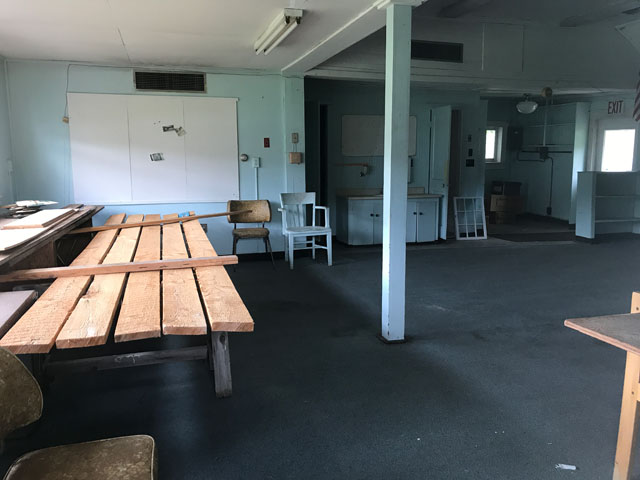 interior of one room school house
