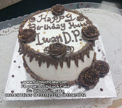 Kue Tart Buttercream Ulang Tahun Simple