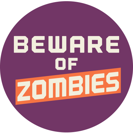 Beware of zombies emoticon